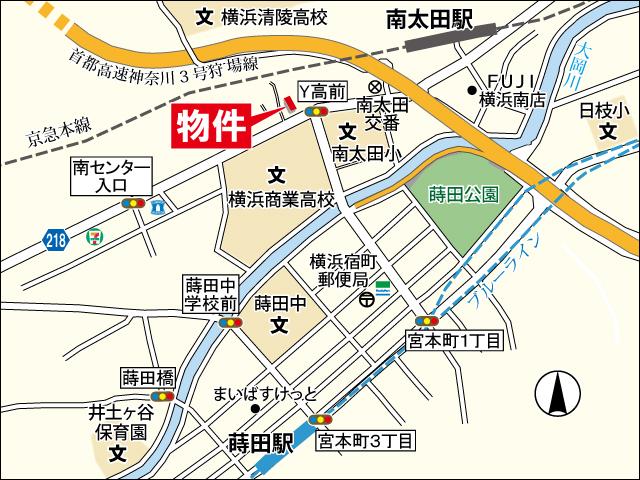 南太田モデルルーム地図